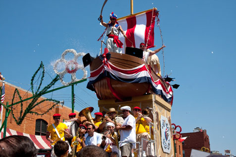 See the one-of-its-kind Giglio Sunday
