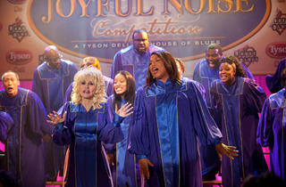 Dolly Parton, left, and Queen Latifah in Joyful Noise