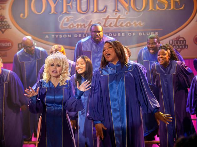 Dolly Parton, left, and Queen Latifah in Joyful Noise