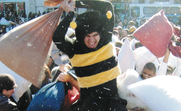 Go wild at Pillow Fight NYC