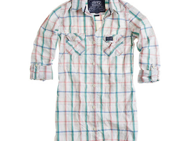 Superdry pastel plaid button-up shirt, $64 (was $92)