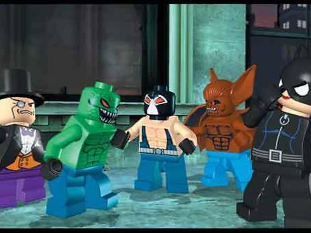 TOYS OF TERROR Catwoman, Man-Bat, Bane, Killer Croc and the Penguin (from left) seek revenge in LEGO Batman: The Videogame.