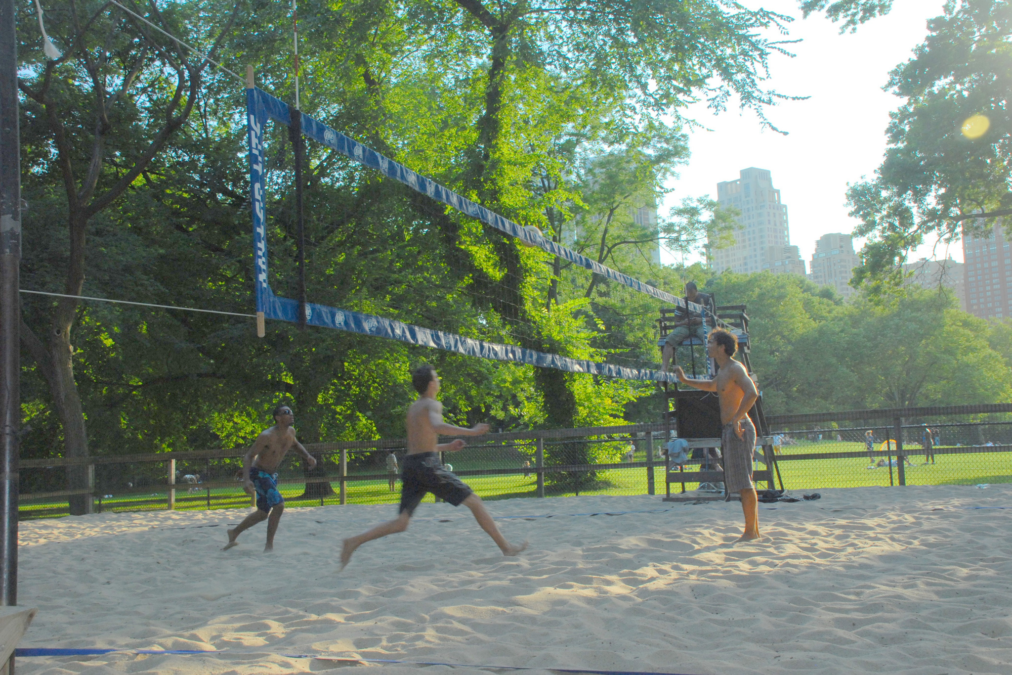 Bump, set, spike and show off at an outdoor volleyball court