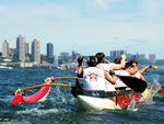 81. Power through the water on the Hudson with the New York Outrigger Club