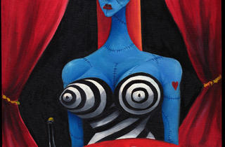(Tim Burton, 'Fille bleue avec vin', 1997 / Collection privée © 2011 Tim Burton)