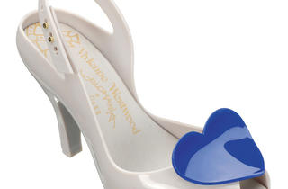 Vivienne Westwood for Melissa peep-toe sling-backs with heart accents, $149, at Melissa Shoes pop-up at Kaight