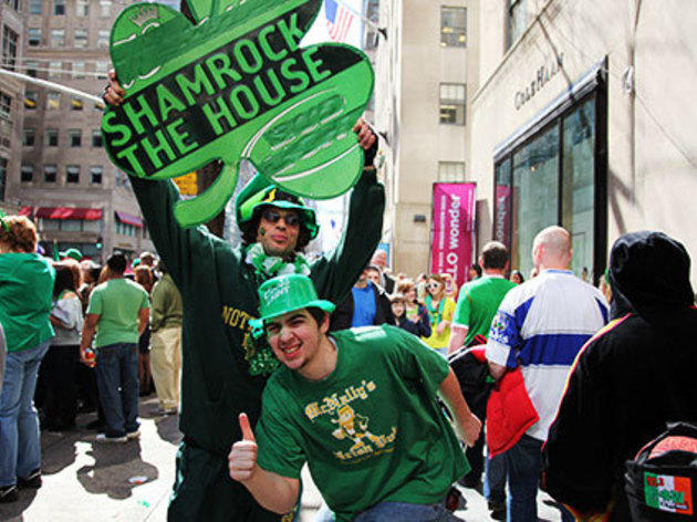 Wear green at the St. Patrick's Day Parade