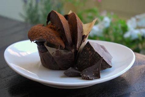 Dirty Valrhona chocolate cupcake at Sweet Revenge