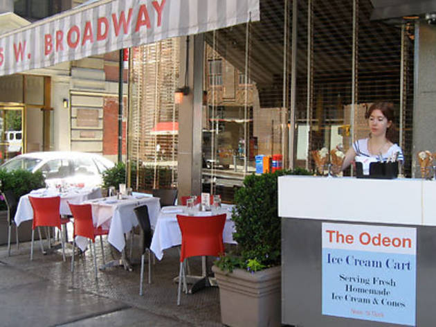 The Odeon ice-cream cart (145 West Broadway between Duane and Thomas Sts; 212-233-0507, theodeonrestaurant.com). Cup or cone $3.