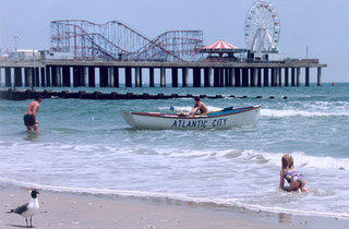Beach and Steel Pier