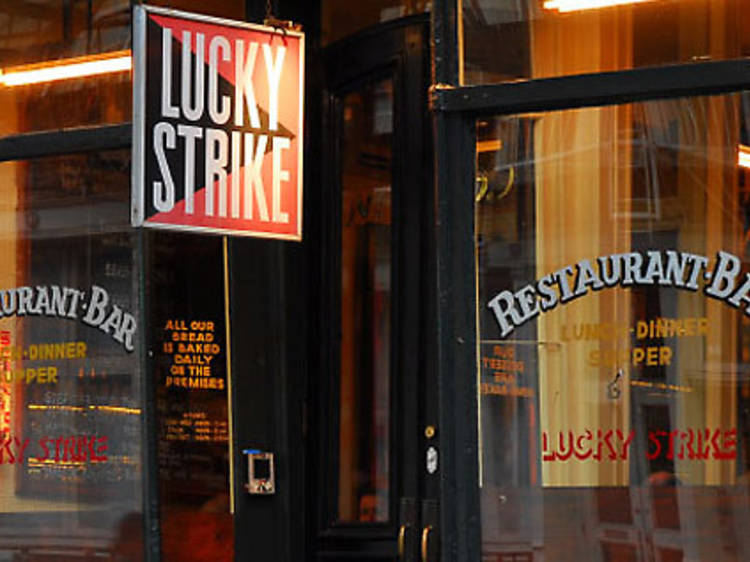 Grab a bite at Lucky Strike