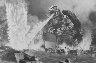 SHELL-SHOCKED Gamera takes out non-reptilian foes.