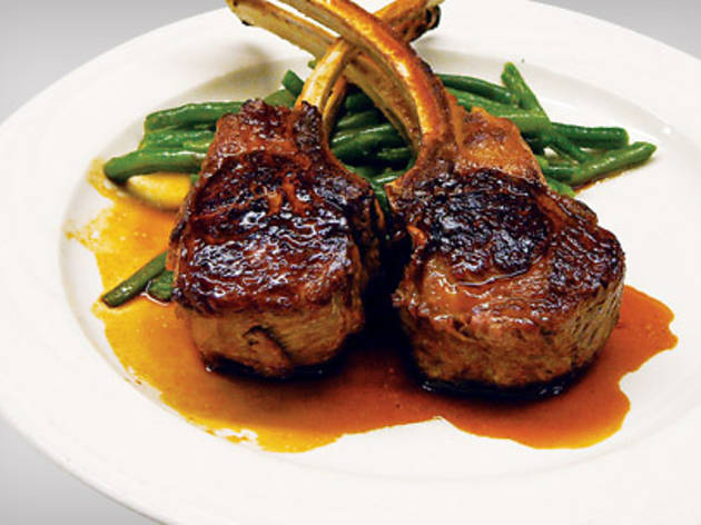 Lamb chops at Keens