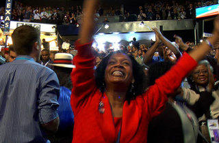 HOPE AND GLORY One Democratic conventioneer celebrates, Colorado-style