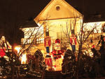 Dyker Heights Christmas LightsPeep 29-foot-tall toy soldiers and an oversize Santa at the Polizzotto home (1145 84th St), and Scrooge and his Christmas ghosts at 1062 84th Street. Main concentration of lights: 83rd St to 86th St between Tenth and Twelfth