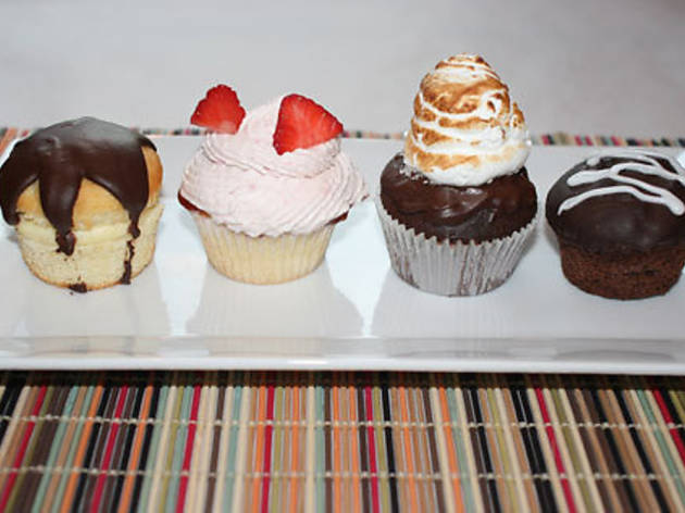 Assorted cupcakes from Out of the Kitchen (420 Hudson St at Leroy St, 212-242-0399, outofthekitchenonline.com)