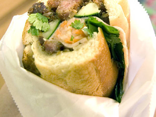 Trillin's perfect banh mi is at Saigon Banh Mi Bakery.