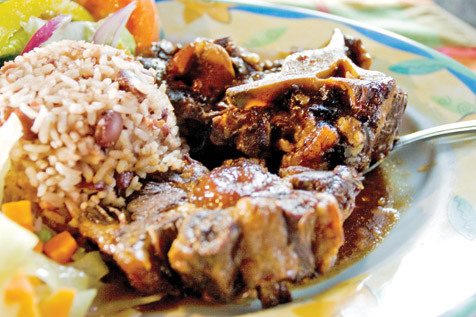 Oxtail stew at the Islands