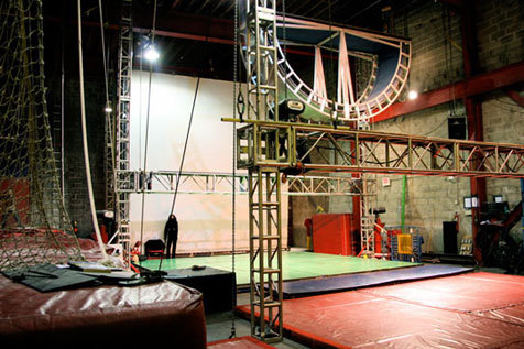 Fly through the air at the España-Streb Trapeze Academy