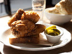 Fried chicken at Peaches Hothouse