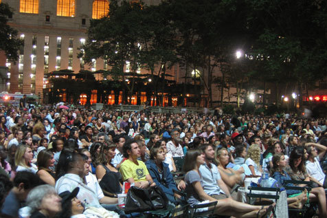 See classic films in Bryant Park