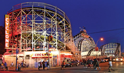 Ride the Coney Island Cyclone