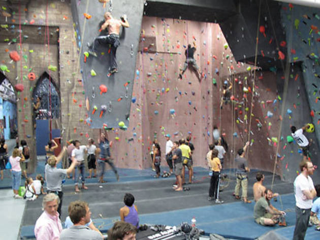 Climb at Brooklyn Boulders