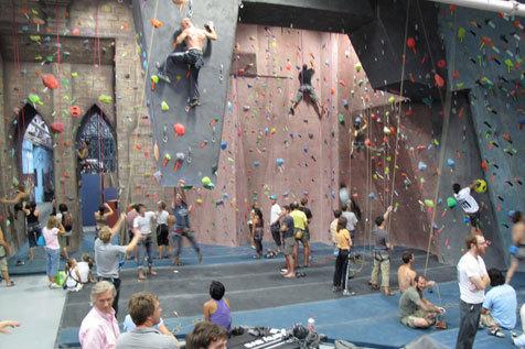 Climb at Brooklyn Boulders