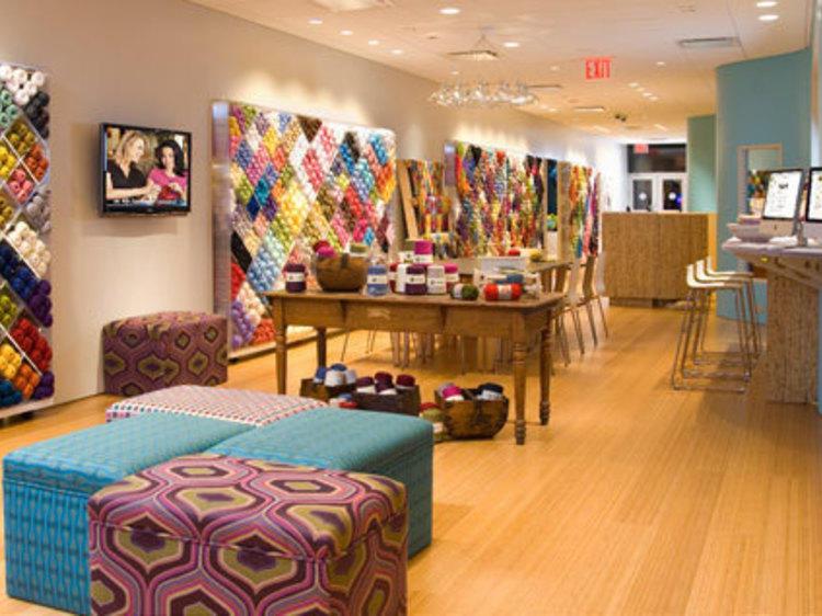 Knitting 1 at Lion Brand Yarn Studio