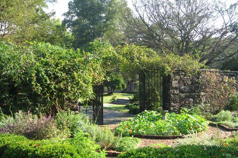 Bartow-Pell Mansion Museum garden in Pelham Bay Park