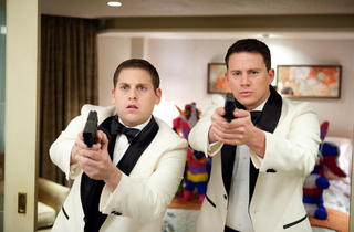 Jonah Hill, left, and Channing Tatum in 21 Jump Street