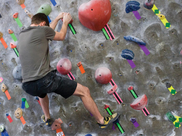 Show your date the ropes while rock climbing at Brooklyn Boulders