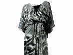 Avenue chevron kimono dress, $74, at avenue.com
