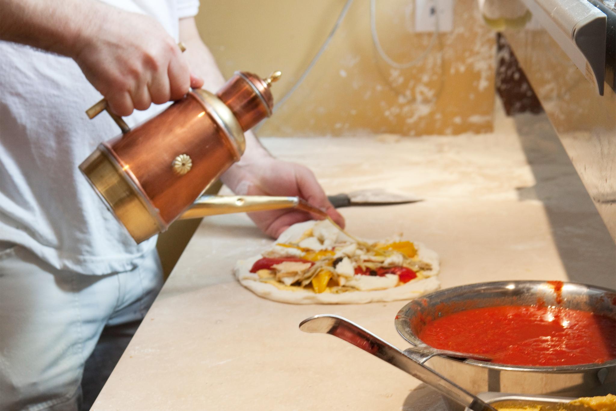 Gluten-free pizza at Kest Pizza & Vino