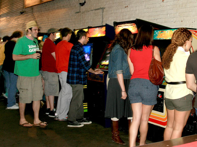 Play video games at Barcade