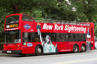 Gray Line tour bus in New York City