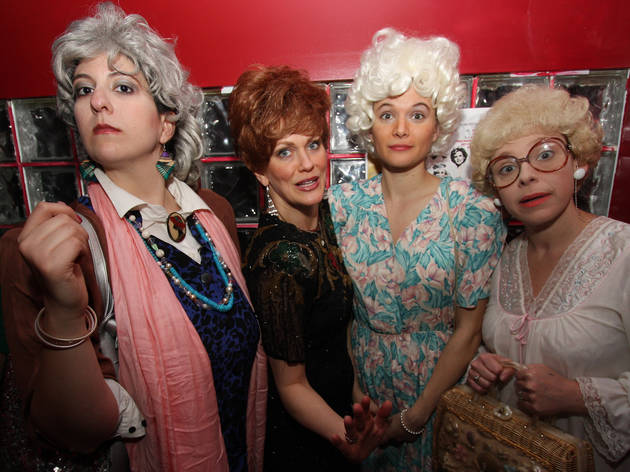 We Love the Golden Girls: (from left) Sharyn Jackson, Amber Martin, Lauren LoGiudice?and Angela DiCarlo