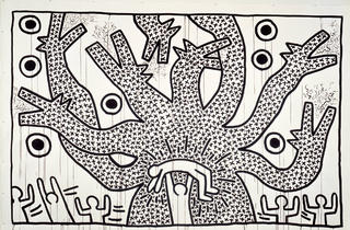 Keith Haring, Untitled 1982 (Photograph: Collection Keith Haring Foundation. © Keith Haring Foundation)