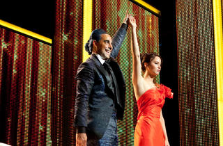 Stanley Tucci and Jennifer Lawrence in The Hunger Games