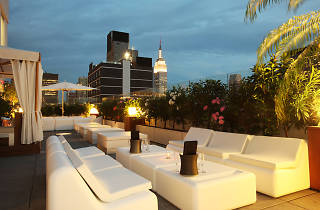 The Sky Room rooftop bar, on the 33rd and 34th floors of the Fairfield Inn and Suites by Marriott Times Square.