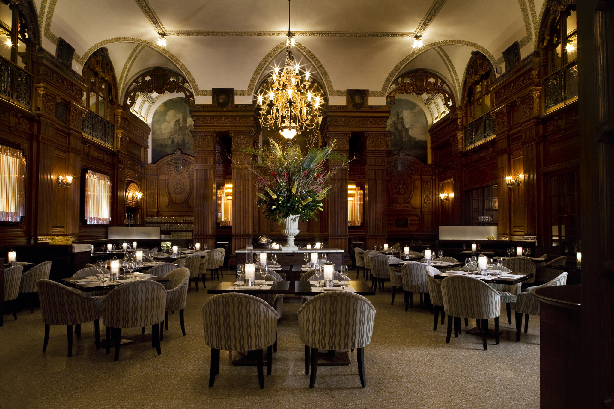 The oak room at the plaza hotel closed restaurants for W austin in room dining menu