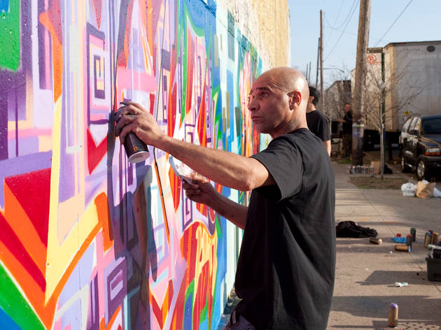 Photos: Goldie and Tats Cru mural in the Bronx (2012)
