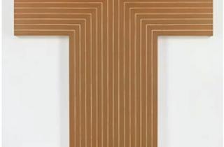 "Frank Stella, ""Black, Aluminum, Copper Paintings"""