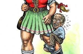 ('L'amazone aux tresses', 2007 - 2011 / Collection Paul Morris et Sam Grubman, New York / © Robert Crumb )