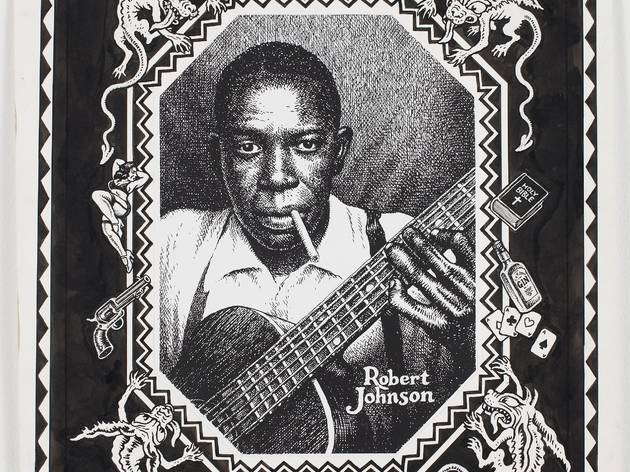 ('Robert Johnson, Hell hound On My Trail', c. 1996 / Photo : Courtesy Paul Morris and David Zwirner, New York / © Robert Crumb)