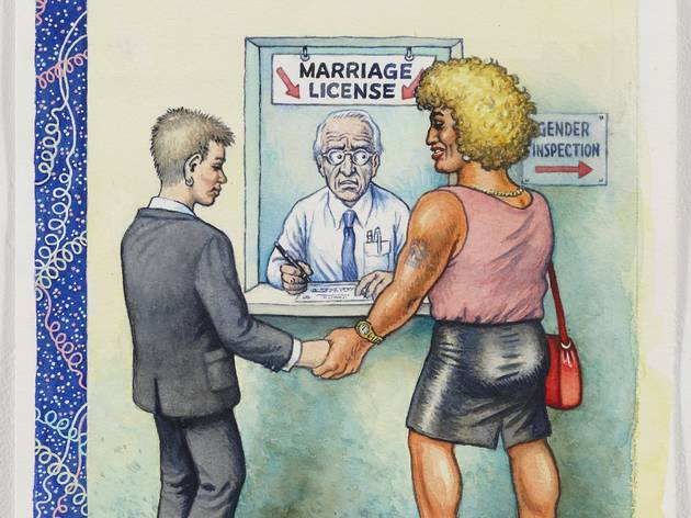 ('Marriage license', 2009, couverture non publiée par 'The New Yorker' / Photo : Courtesy Paul Morris and David Zwirner, New York / © Robert Crumb )