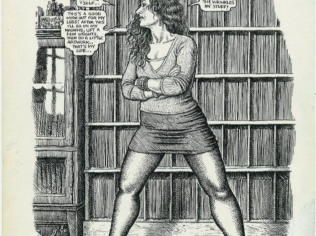 ('Wife in front of the Record Collection', 2002, paru dans Aline Kominsky-Crumb, 'Need More Love. A Graphic Memoir' / © Robert Crumb)