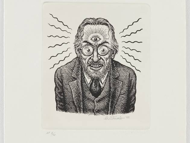 ('Autoportrait au 3e œil', 2001-2005 / Collection Paul Morris and Samuel Grubman / Photo : Courtesy Paul Morris and David Zwirner, New York / © Robert Crumb)