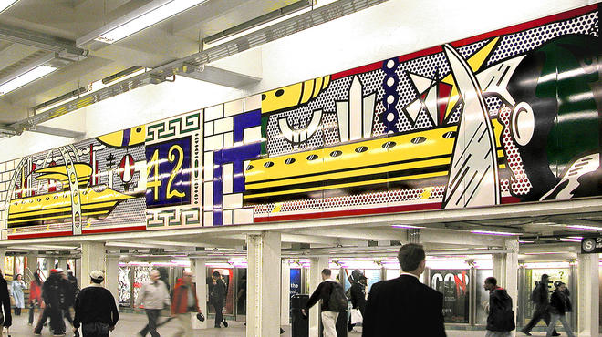 ?Times Square Mural? (2002), Estate of Roy Lichtenstein, 42nd Street-Times Square Subway Station.