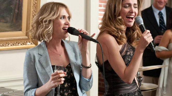 Kristen Wiig, left, in Bridesmaids